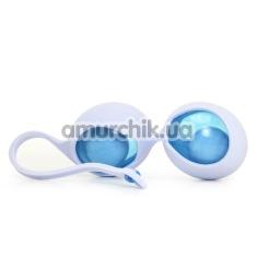 Вагинальные шарики OVO L1, бело-голубые - Фото №1