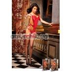 Чулки Black-Red Mesh Stockings With Rear Seam (модель B206) - Фото №1