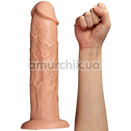 Вибратор Lovetoy Realistic Long Vibrating Dildo 11, телесный