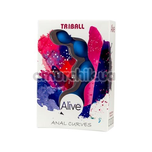 Анальная цепочка Alive Triball Anal Curves, синяя
