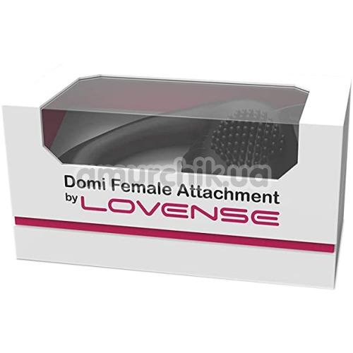 Насадка для вибромассажеров Lovense Domi/Domi 2 Female Attachment, черная