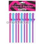 Трубочки для напитков LoveToy Jokes&Parties, цветные 9 шт - Фото №1