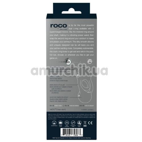 Виброкольцо VeDO Roco Rechargeable Dual C-Ring, черный