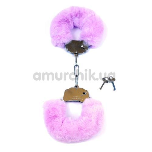 Наручники Boss Series Fetish Furry Cuffs, сиреневые