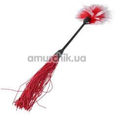 Плеть Whip & Tickle, с красно-белыми пёрышками - Фото №1