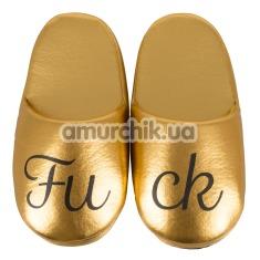 Тапочки Fuck Puschen, золотые