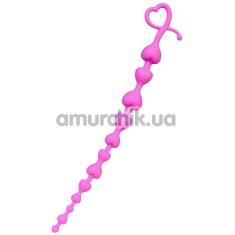 Анальная цепочка ToDo Anal Beads Long Sweety, розовая - Фото №1