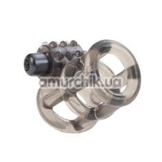 Кольцо-насадка с вибрацией Basic Essentials Stretchy Vibrating Support Cage - Фото №1