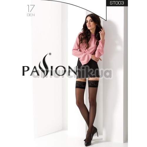 Чулки Passion Free Your Senses ST003, черные