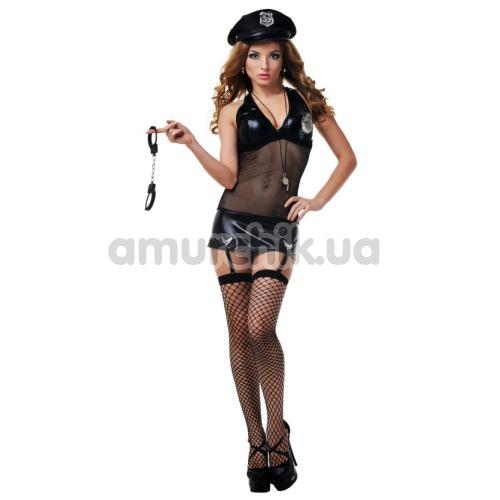 Костюм полицейской LeFrivole Police Woman Costume (287248), чёрный - Фото №1