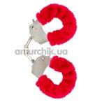 Наручники Furry Fun Cuffs, красные - Фото №1