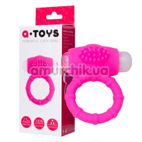 Виброкольцо А-Toys Powerful Cock Ring, розовое