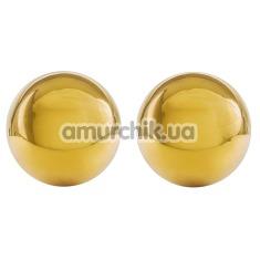 Вагинальные шарики Ben Wa Authentic Love Balls, золотые - Фото №1