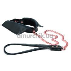 Ошейник с поводком Entice Chelsea Collar with Leash, черный - Фото №1