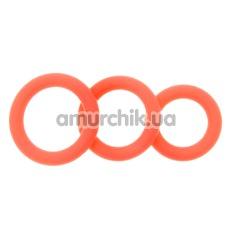 Набор эрекционных колец Stimu Ring Set, оранжевый - Фото №1