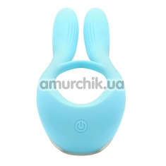 Виброкольцо KissToy Martin, голубое - Фото №1