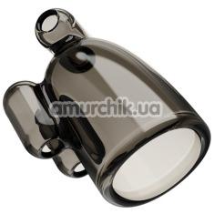Мастурбатор для головки члена с вибрацией Vibrating Crystal Cap III, черный - Фото №1
