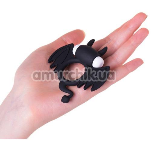 Эрекционное кольцо с вибрацией JOS Cocky Devil, черное