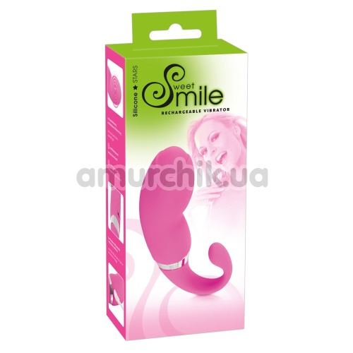 Вибратор для точки G Smile Sweet Rechargeable Vibrator, розовый
