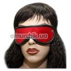 Маска на глаза с двумя заклепками Spade, красно-черная - Фото №1