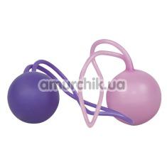 Вагинальные шарики Nature Skin Duotone Balls - Фото №1