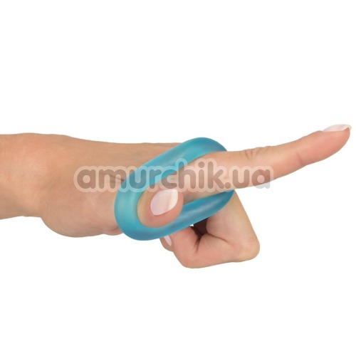 Эрекционное кольцо Stretchy Cock Ring, голубое