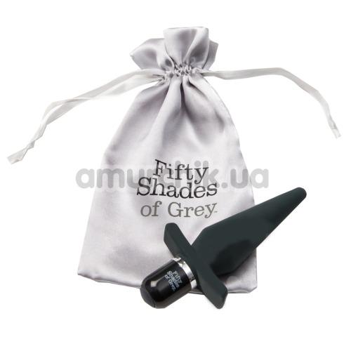 Анальная пробка с вибрацией Fifty Shades of Grey Delicious Fullness, черная