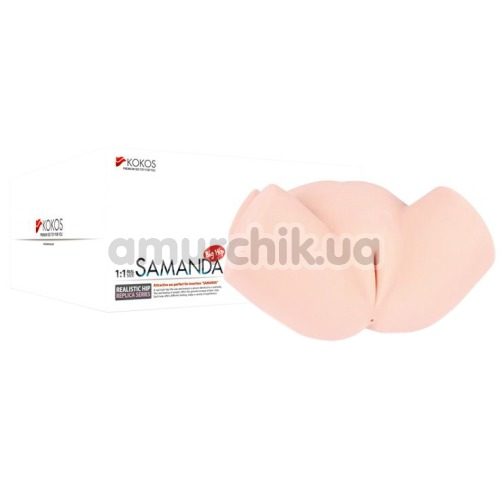 Искусственная вагина и анус с вибрацией Kokos Samanda, телесная