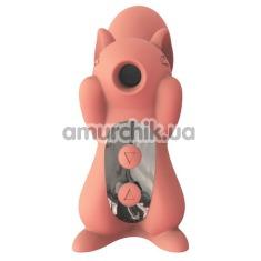 Симулятор орального секса для женщин с вибрацией KissToy Miss UU, оранжевый - Фото №1