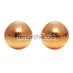 Вагинальные шарики Entice Accessories Weighted Kegel Balls, золотые - Фото №1