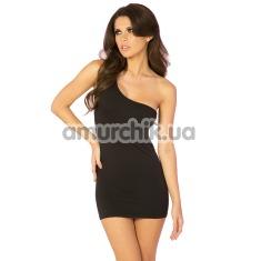Платье One Shoulder Slash-Back Dress, черное - Фото №1