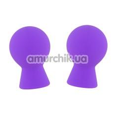 Вакуумные стимуляторы для сосков Lit-Up Silicone Nipple Suckers, фиолетовые