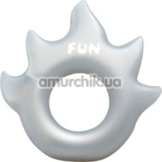 Эрекционное кольцо Fun Factory Flame, серебряное - Фото №1