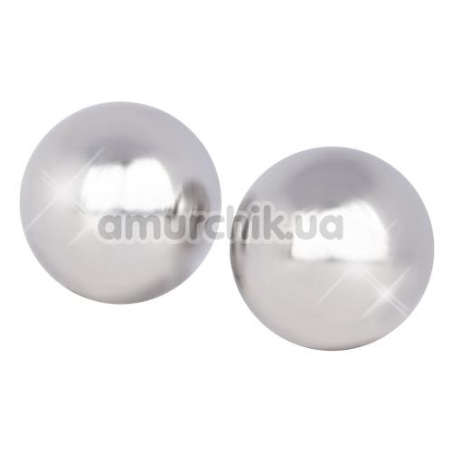 Вагинальные шарики Ben Wa Authentic Love Balls, серебряные