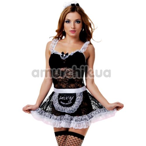 Костюм горничной LeFrivole Maid Costume (02794), чёрный