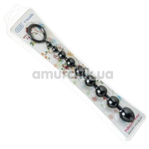 Анальная цепочка Loveshop Silicone Anal Beads, черная