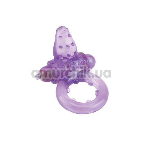 Виброкольцо Iso Stretch Nubby Clitoral Probe Cockring, фиолетовое