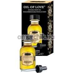 Масло для орального секса с согревающим эффектом Kama Sutra Oil Of Love Vanilla Cream - ваниль, 22 мл - Фото №1