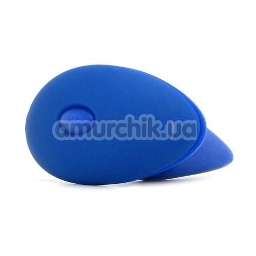 Анальная пробка с вибрацией Risque синяя