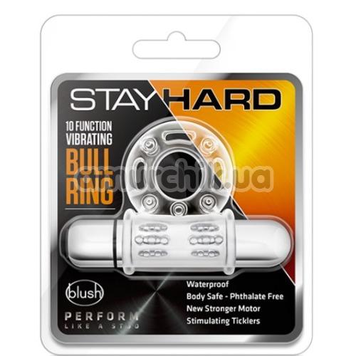 Виброкольцо Stay Hard Vibrating Bull Ring, прозрачное
