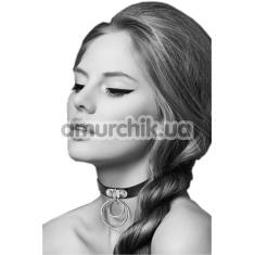 Ошейник Bijoux Pour Toi Two Rings, чёрный - Фото №1