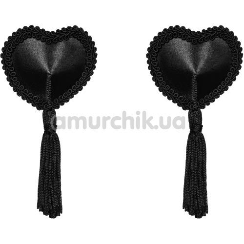 Украшения для сосков Obsessive Tassel, черные - Фото №1