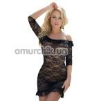 Комплект Agathe черный: комбинация + трусики-стринги - Фото №1
