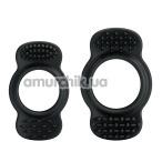 Набор из 2 эрекционных колец Ring, черный - Фото №1