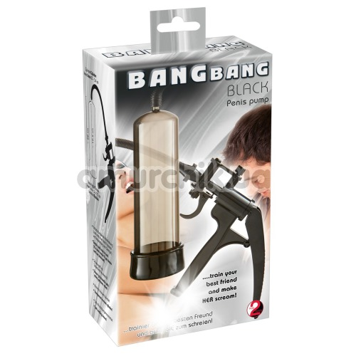 Вакуумная помпа Bang Bang Penis Pump, черная