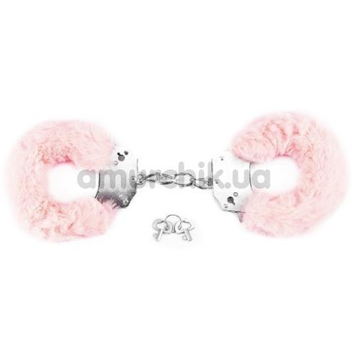 Наручники Fetish Pleasure Fluffy Handcuffs, розовые - Фото №1