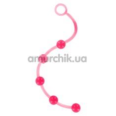 Анальная цепочка Jelly Pleasure Beads, розовая - Фото №1