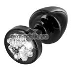 Анальная пробка с прозрачным кристаллом SWAROVSKI Anni R Clover T2, черная - Фото №1