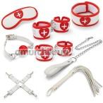 Бондажный набор sLash Nurse Bondage Set, белый - Фото №1