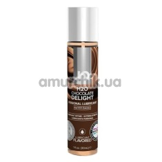 Оральный лубрикант JO H2O Chocolate Delight - шоколад, 30 мл - Фото №1